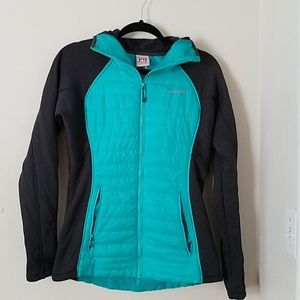 Avalanche Fitted Zip Front Grey & Aqua Jacket